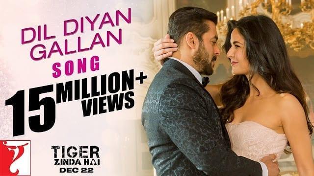 Dil Diyan Gallan Song Lyrics   Tiger Zinda Hai   Salman Khan   Katrina Kaif   Atif Aslam