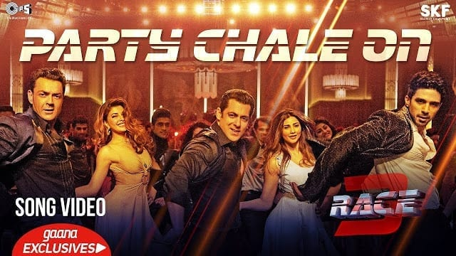 Party Chale On Song Lyrics | Race 3 | Salman Khan | Mika Singh, Iulia Vantur | Vicky, Hardik