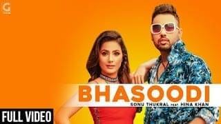 BHASOODI Lyrics   Sonu Thukral   ft. Hina Khan (Full Song) Pardhaan   Preet Hundal   Latest Bollywood Song