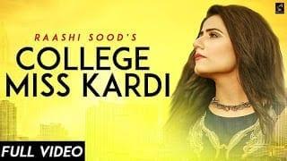 College Miss Kardi Lyrics |  Raashi Sood