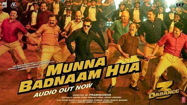 Munna Badnaam Hua Lyrics - Dabangg 3  - Salman Khan